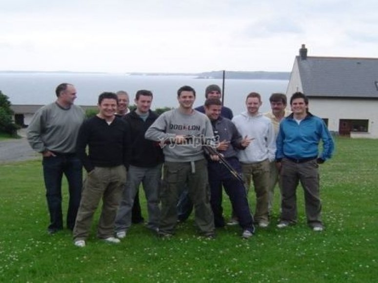 Clay Pigeon Shooting for a stag do