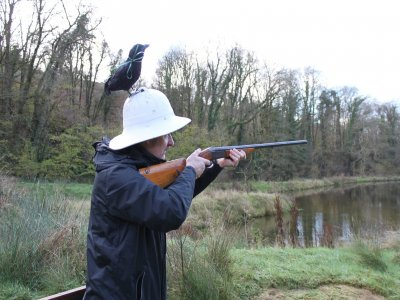 Clay Pigeon Shooting in Pentrecwrt Half Day