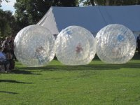 Have a great time Zorbing with a friend.