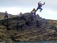 Leaping into the sea!