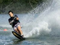 Wakeboarding is lots of fun.