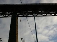 Abseiling from bridge