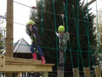 A great kids High Ropes course.