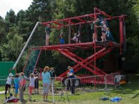 A great mobile high ropes course.