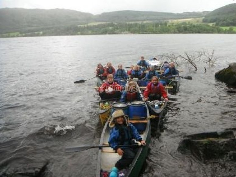 Group paddling excursion