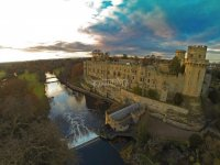 Warwick castle from above