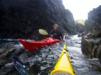 Kayaking on the sea or the lake