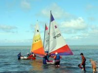 Sailing on New Quay Bay