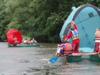 Canoe sailing!