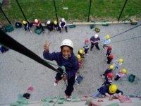 Outdoor climbing is fun too.