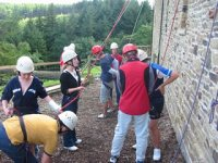 Take on our onsite climbing wall