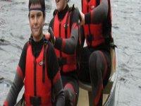 Group canoe session