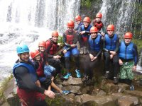 Group canyoning adventure