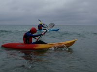 Paddling on a grey day