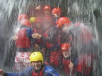 Canyoning is lots of fun.