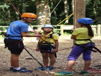 Summer camp with high ropes