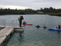 Kayaks and Divers