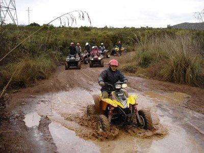 1h two-seater ATV tour in Vilanova i la Geltrú
