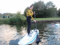 Learning to stand up paddle board