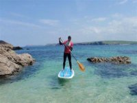 Paddling the crystal waters of Cornwall