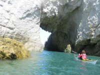 Kayaking White Arch Rhoscolyn