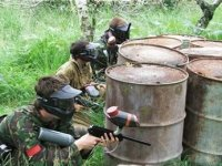 Teamwork is important in paintball