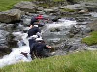 Your instructor leads the way up a waterfall
