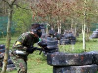 You will have to be quick in order to dodge the flying paintballs