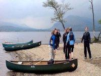 Scenic canoe trip