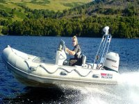 Out in the powerboat