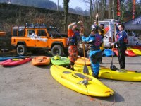 Getting ready to paddle the River Dee