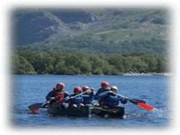 Work as a team with our canoeing days