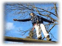 Take on our challenging but fun High Ropes course