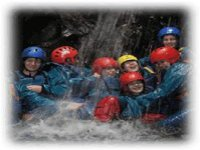 Playing in the beautiful wet gorges