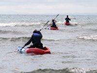 Sea kayking - negotiating the waves