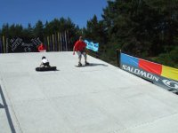 Learing to Snowboard on our dry ski slope