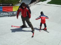 Skiing lessons with professional instructors