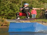 Jumping with wakeboarding