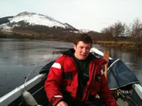 Aboard with Ben Lawers in the background