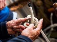 Knot tying, essential for sailing