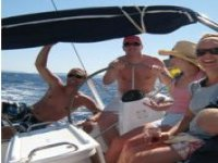 Enjoying the boat all together