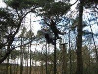 Swinging through the air