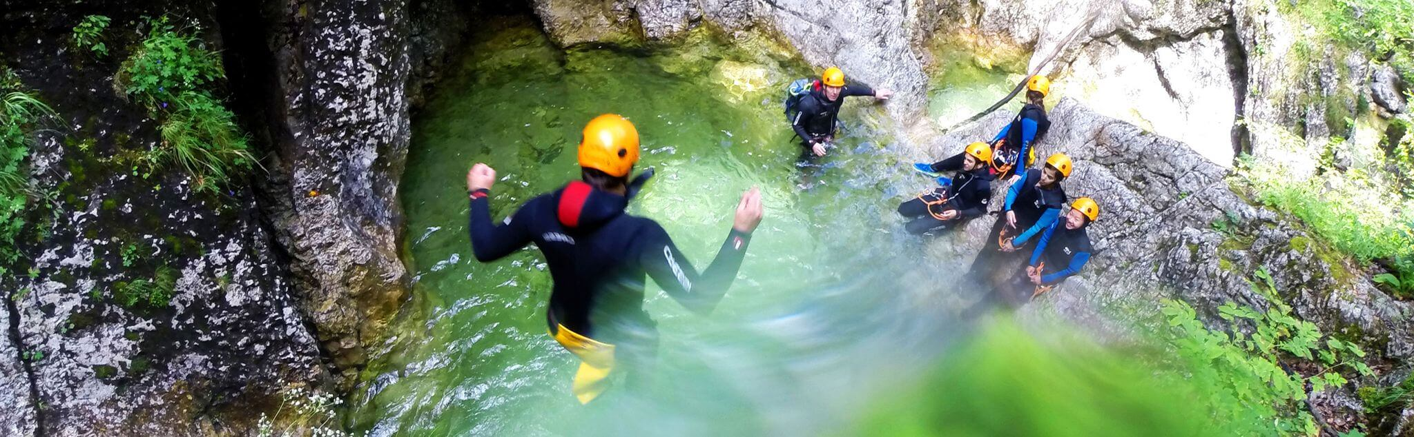 Canyoning in Somerset