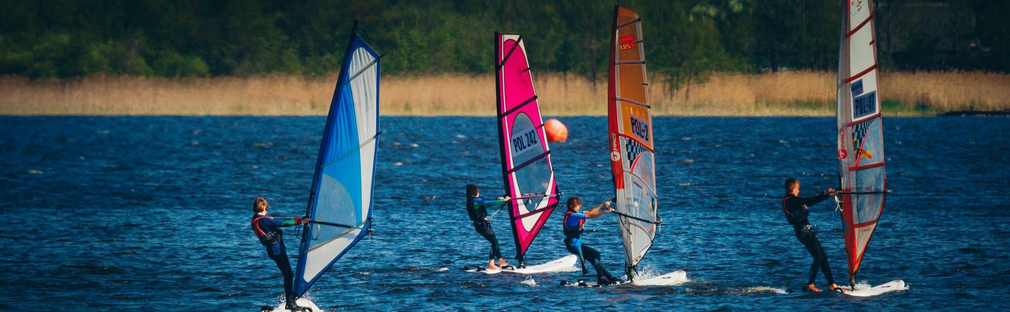 Windsurfing in West Lothian