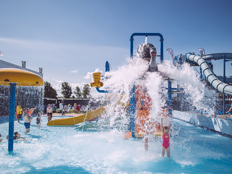 Go for a splash during the summer