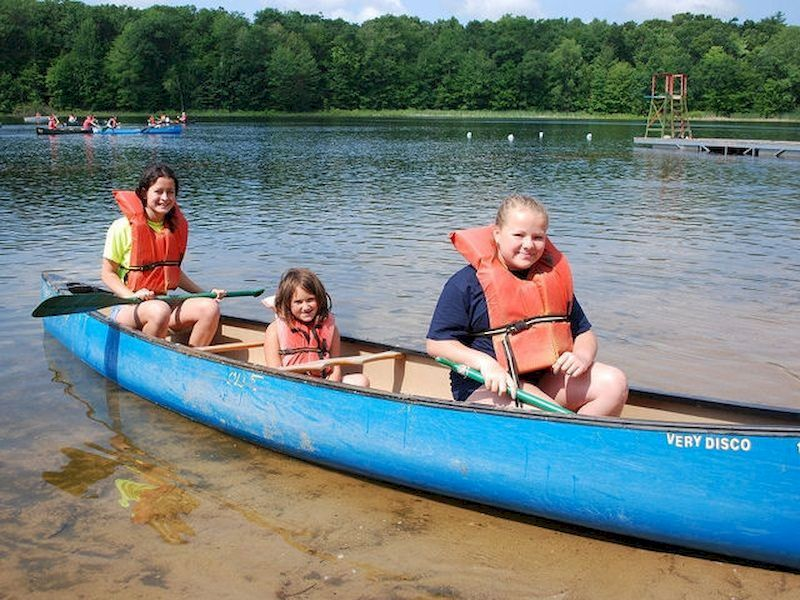 You can enjoy the canoe ride with the family