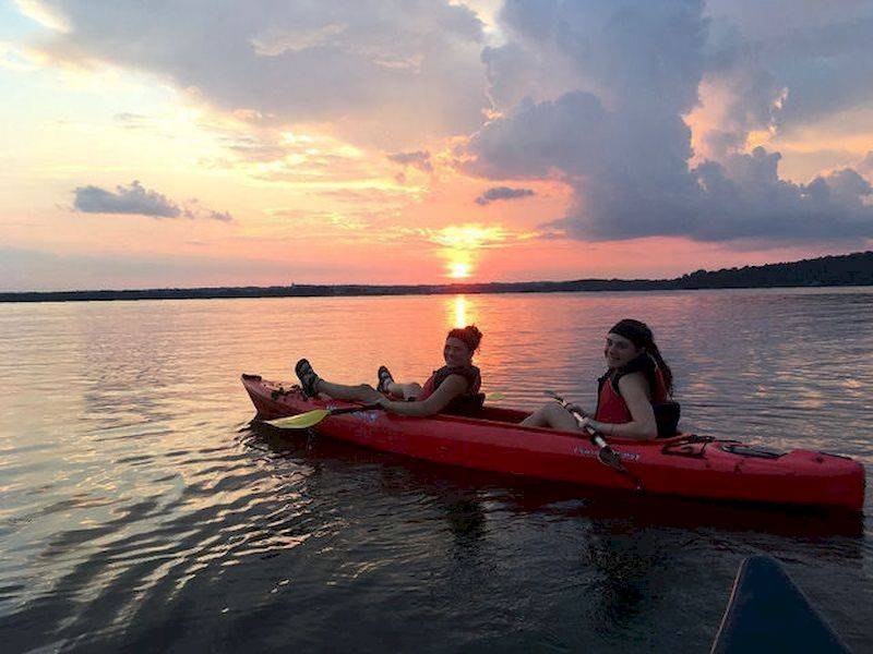 You can go canoeing during the day, at dusk or at night