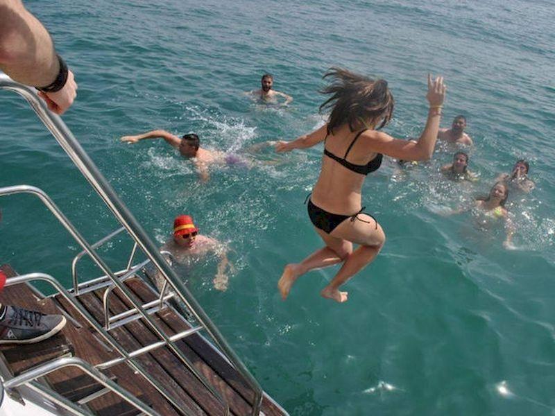 Swim in the high seas