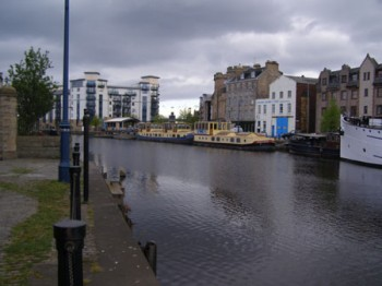 The harbour in Leith