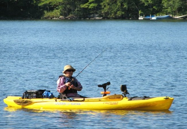 Relaxing kayak fishing